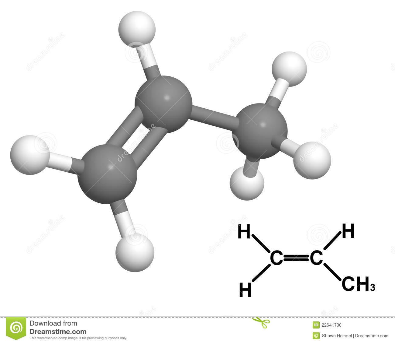 molcula-del-propileno-con-frmula-qumica-22641700